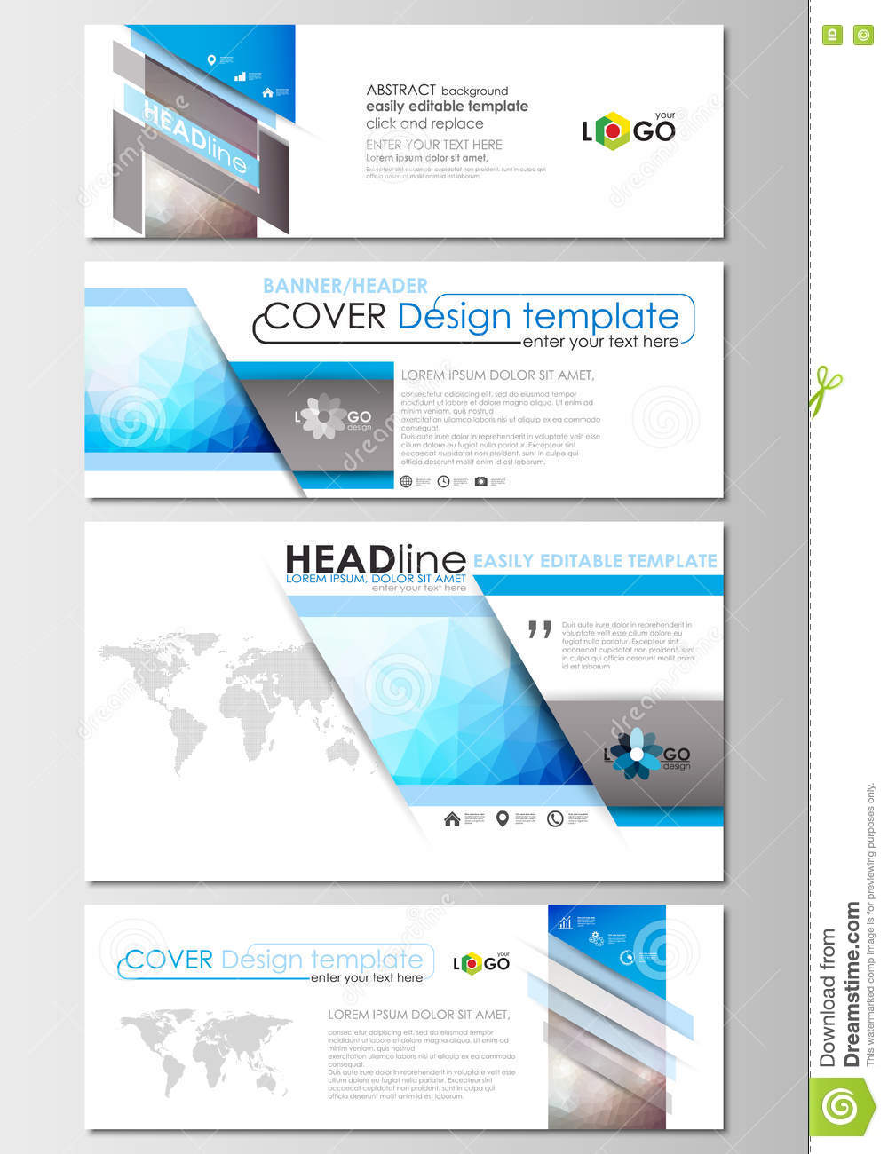Modern social media banners email headers business templates download comp flashek Images