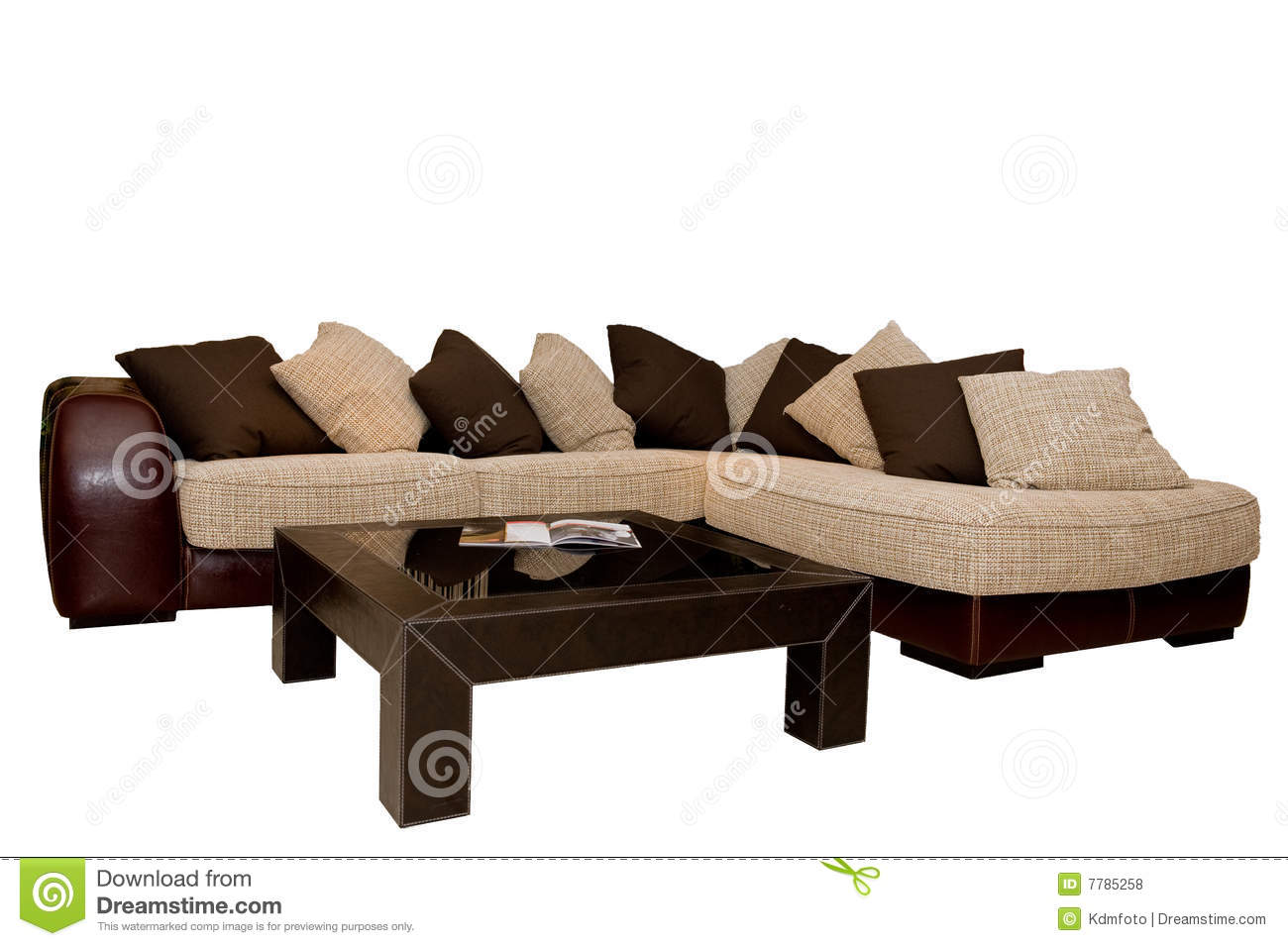 modern sofa with coffee table royalty free stock photos
