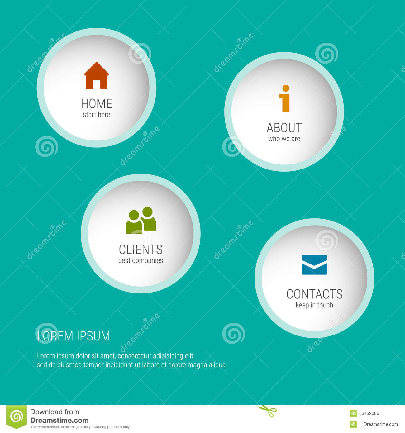 Website soft colors - The Modern Soft Color Design Template Graphic Or Website Layout Vector Sample Icons