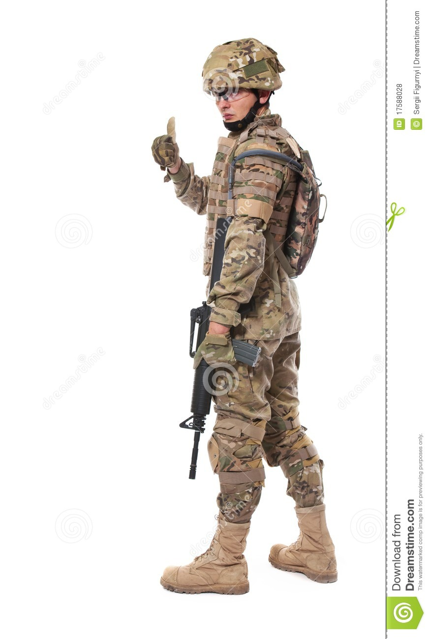 Modern Soldier With Rifle Royalty Free Stock Photos - Image: 17588028