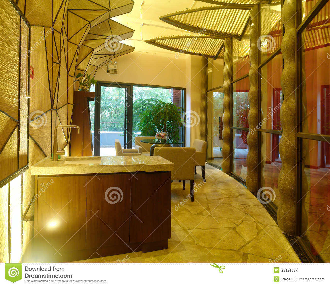 Modern Spa Interior Design Royalty Free Stock Photography