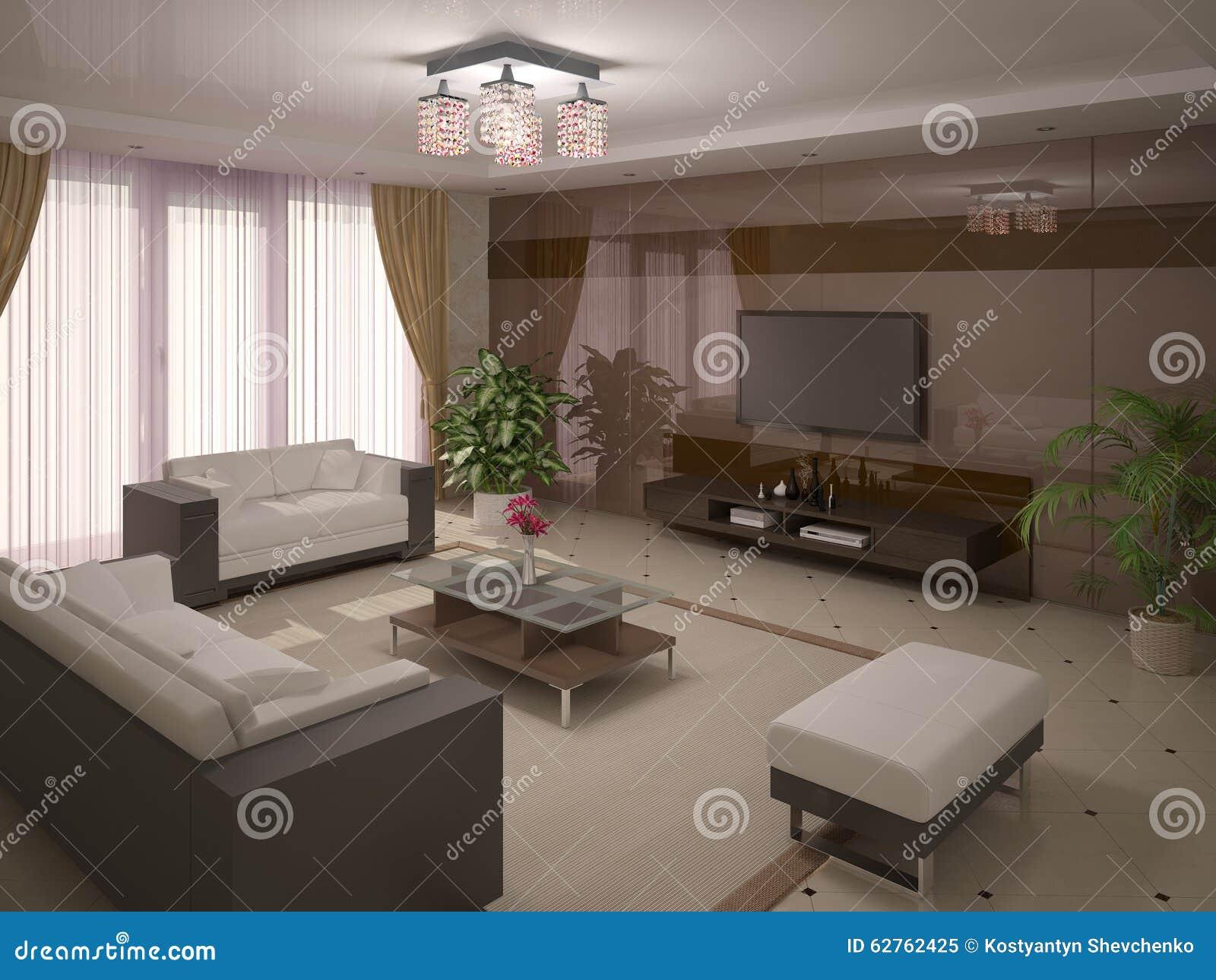 Modern Spacious Living Room