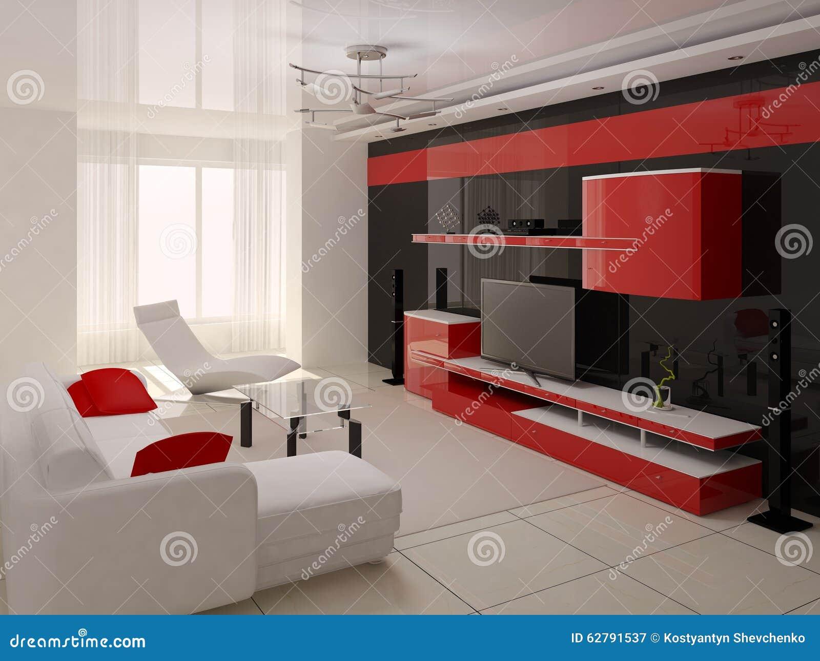 Modern Spacious Living Room Stock Illustration Image