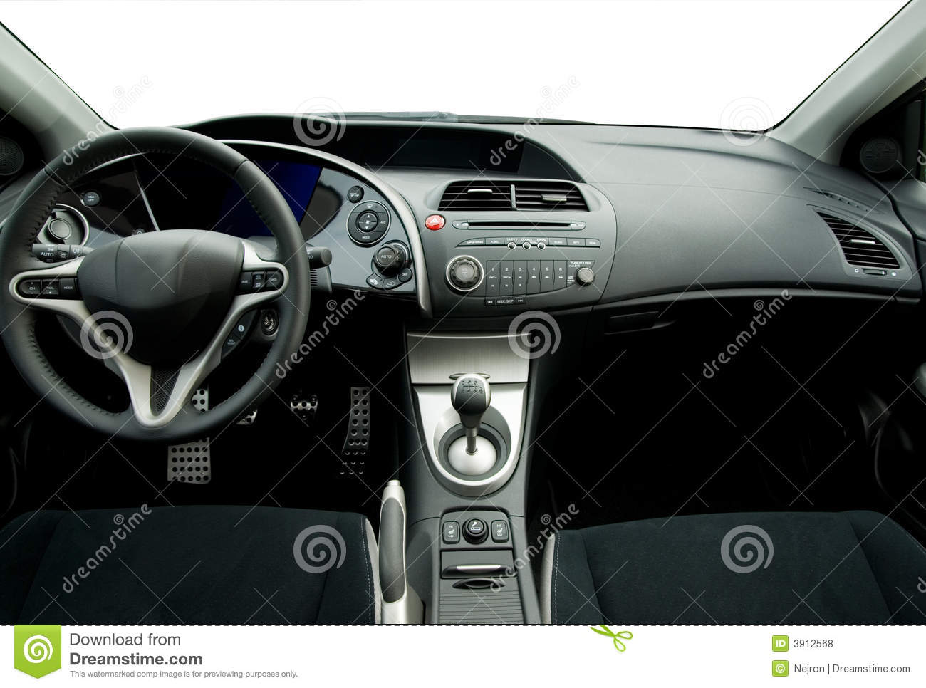 Modern Sport Car Interior Royalty Free Stock Photos Image 3912568