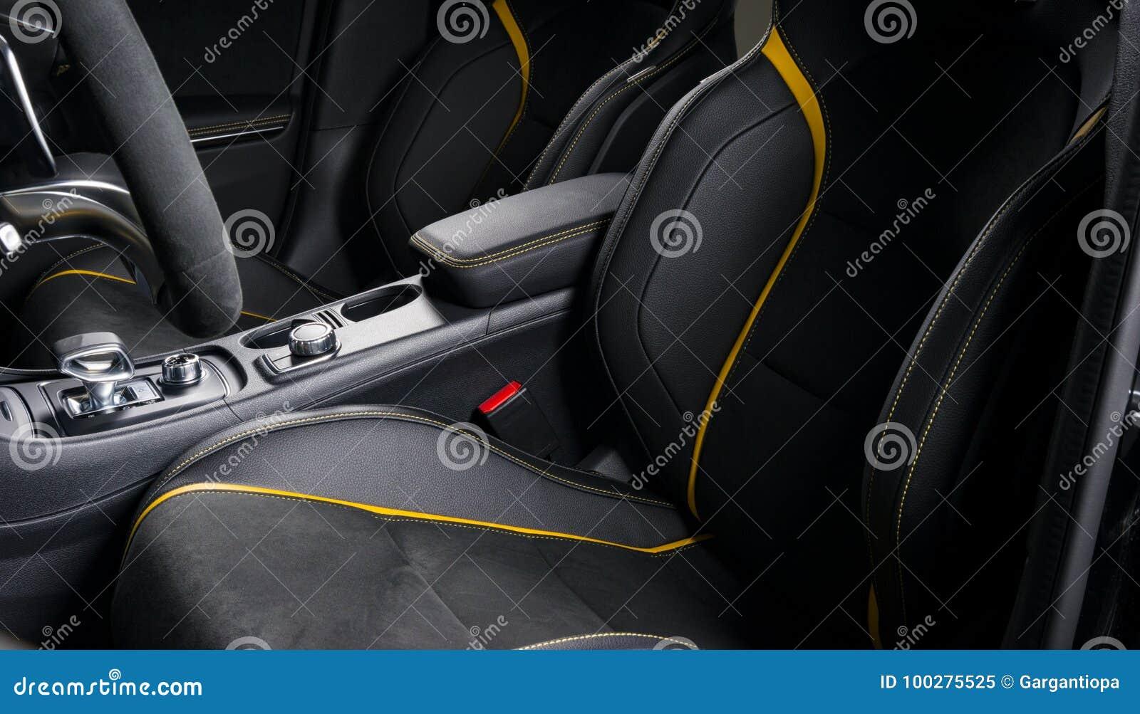 Modern Sport Car Interior Stock Image Image Of Gear 100275525
