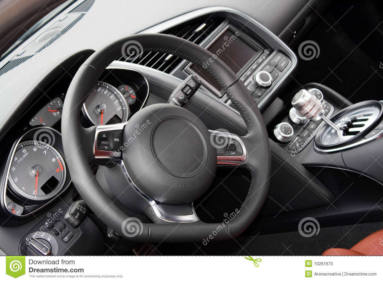 modern sports car interior stock photo image of gauges 10261670. Black Bedroom Furniture Sets. Home Design Ideas