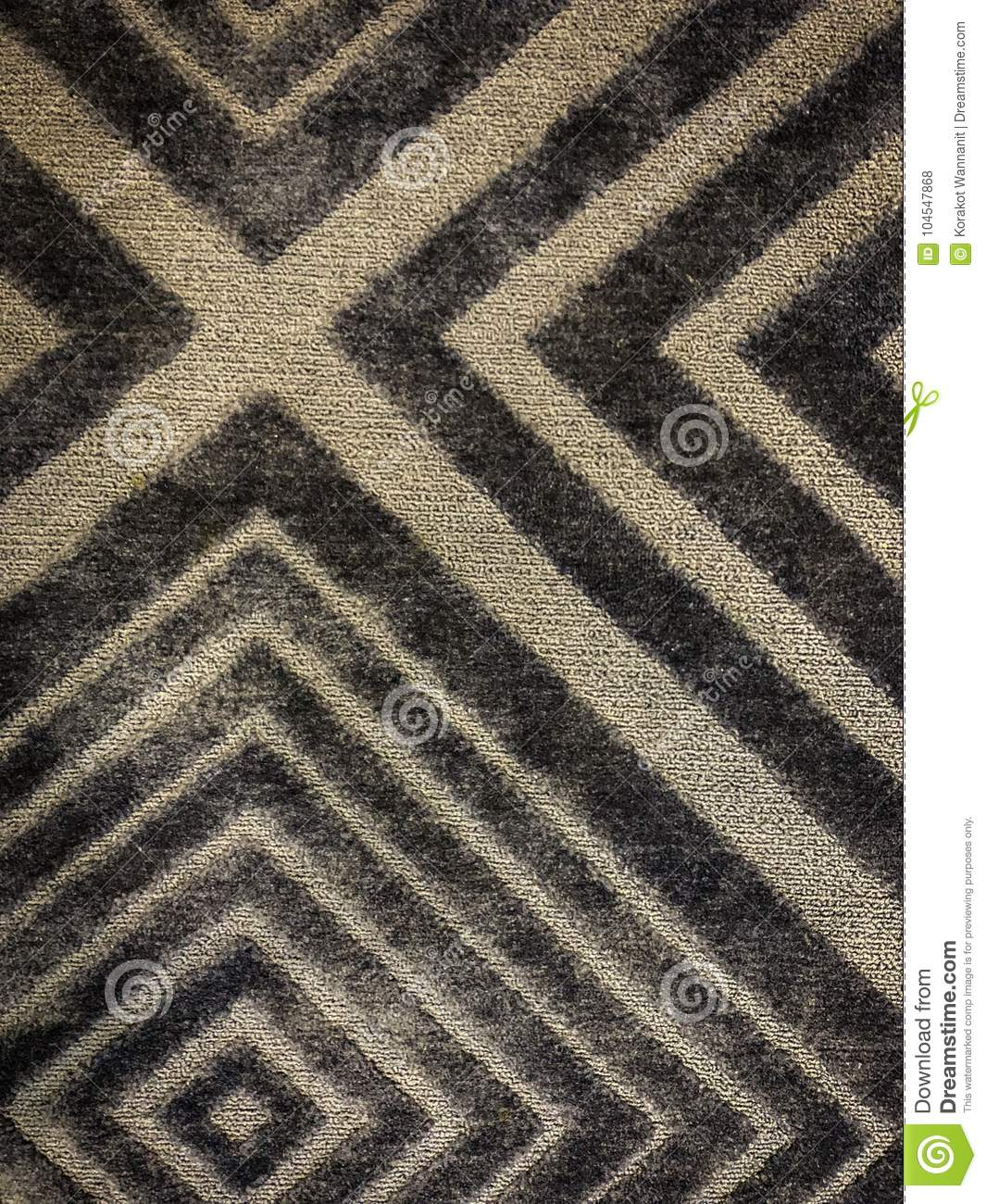 Download Modern Square Of Yellow And Brown Carpet On The Floor Image Stock Photo
