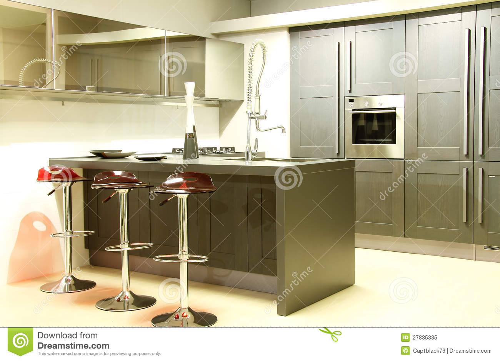 Grijze Keuken Modern : Modern staal en grijze keuken gootsteen ...
