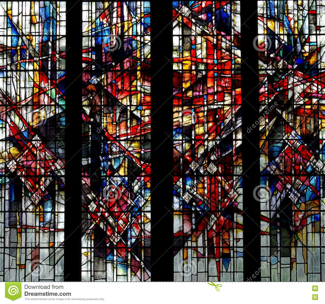 Modern stained glass stock image image of church modern for Contemporary stained glass