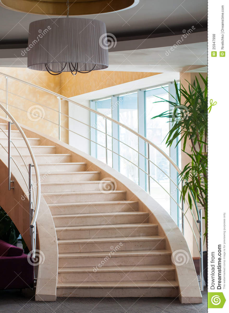 Foyer In Hotel : Modern staircase in hotel foyer royalty free stock photos