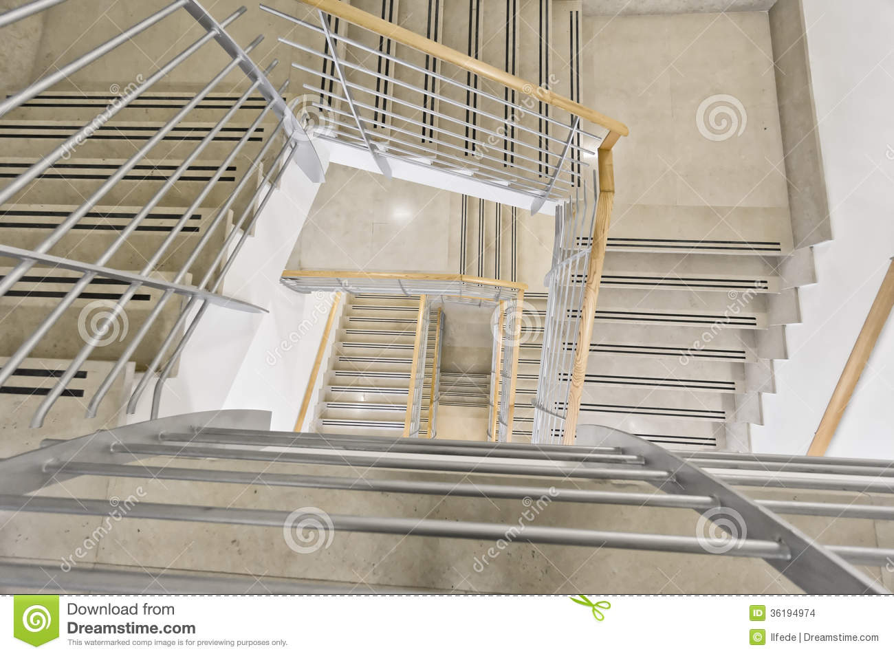 Modern Staircase In Office Building Stock Images Image 36194974
