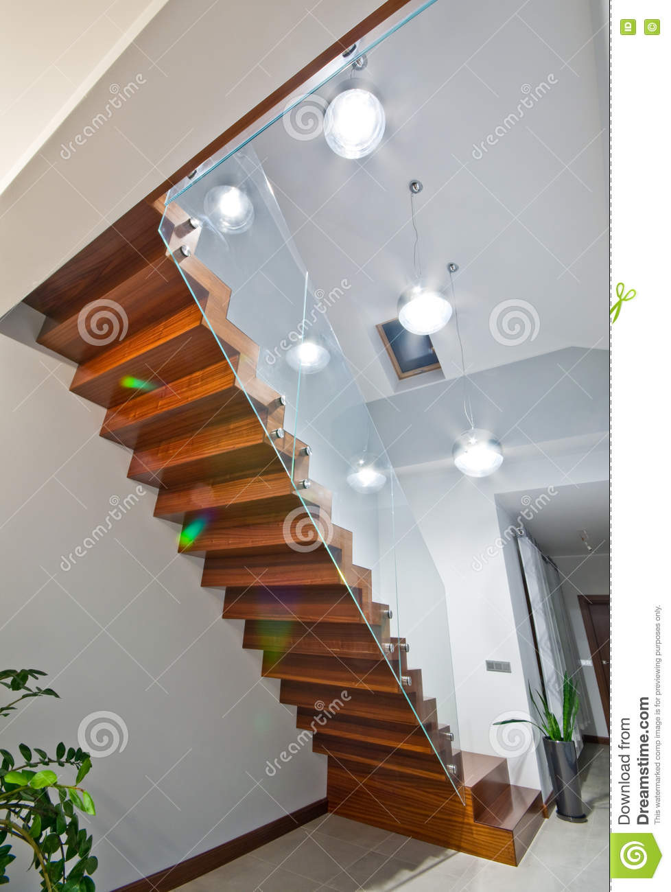 Modern stairs in the interior of the house