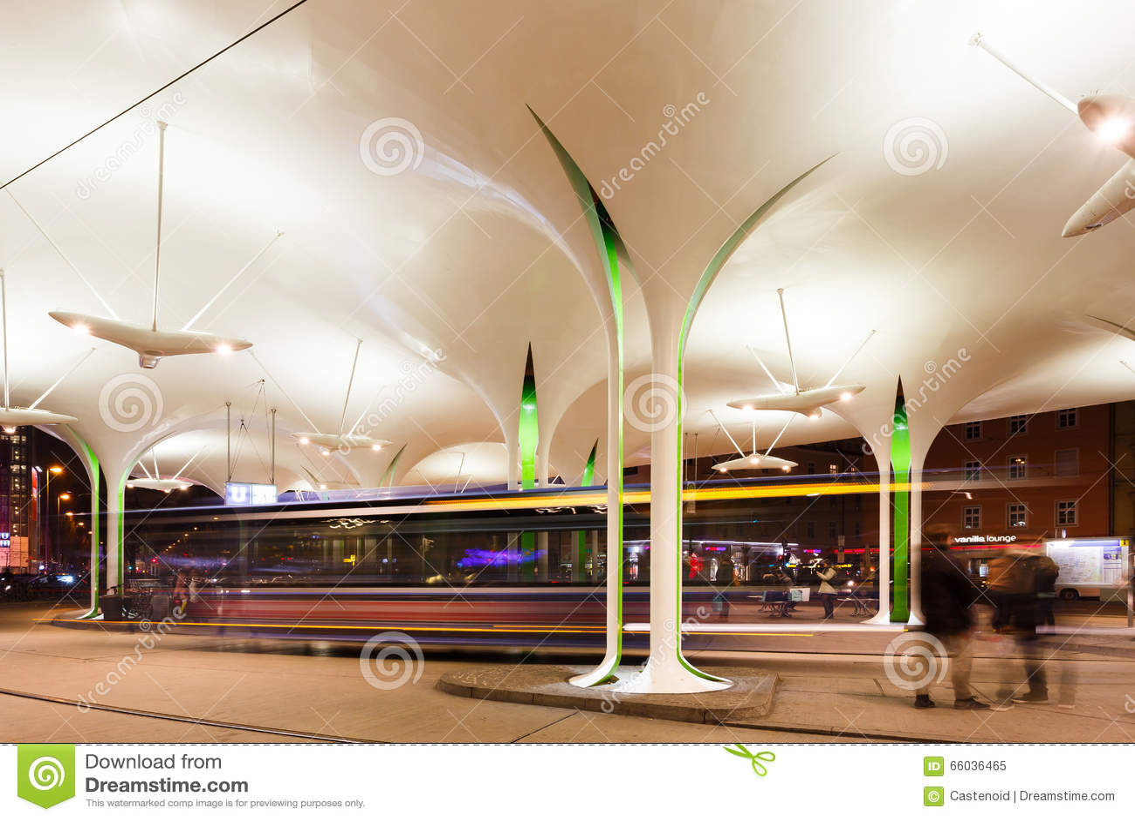 modern station in munich editorial image image 66036465. Black Bedroom Furniture Sets. Home Design Ideas