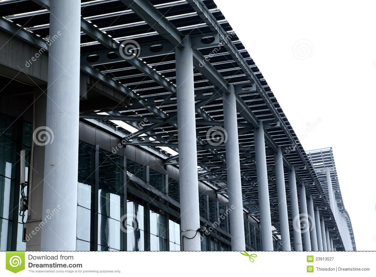 Modern steel building stock image image of structures for Modern metal building