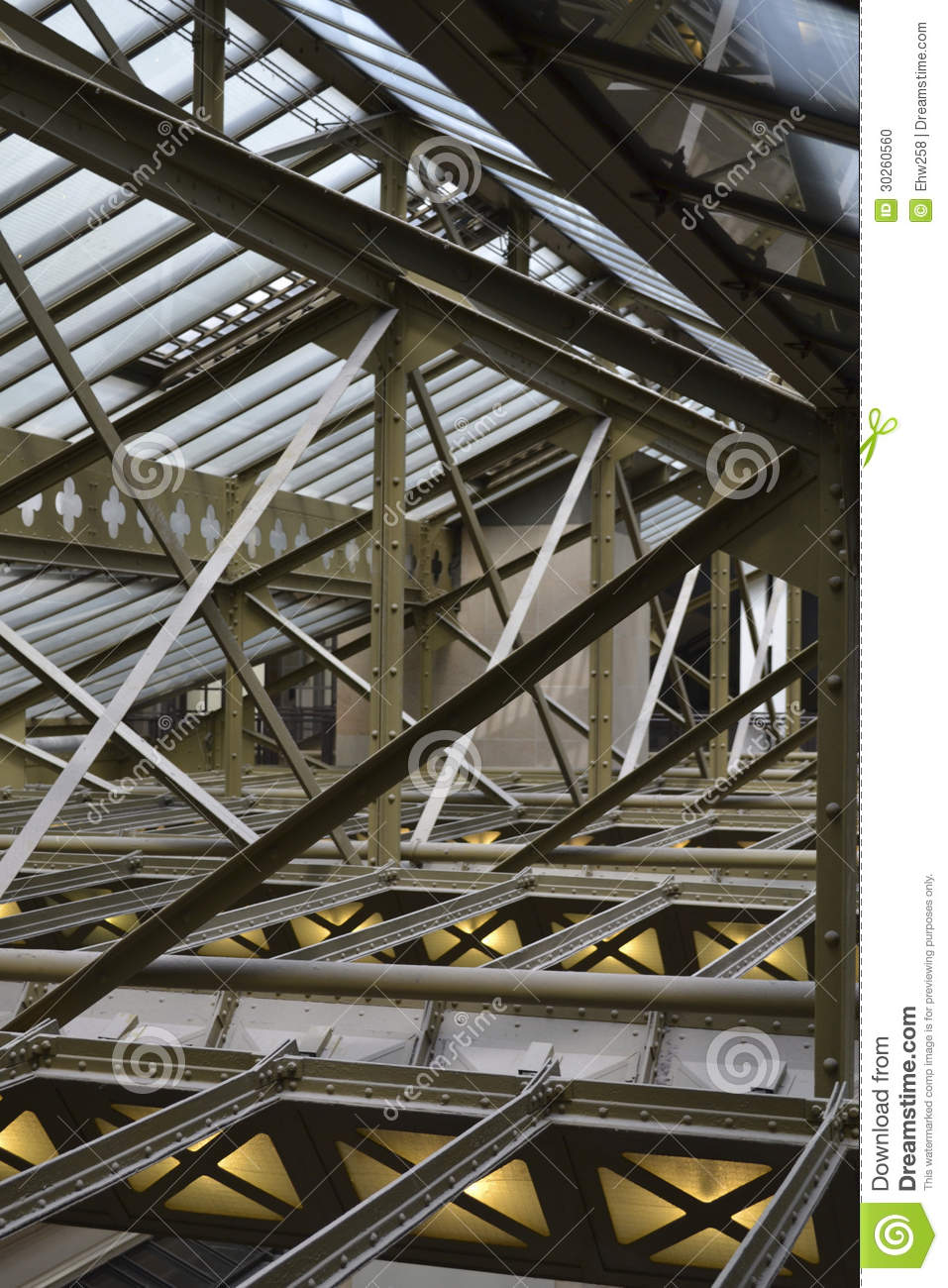 Infrastructure As Architecture : Steel building infrastructure stock photo image