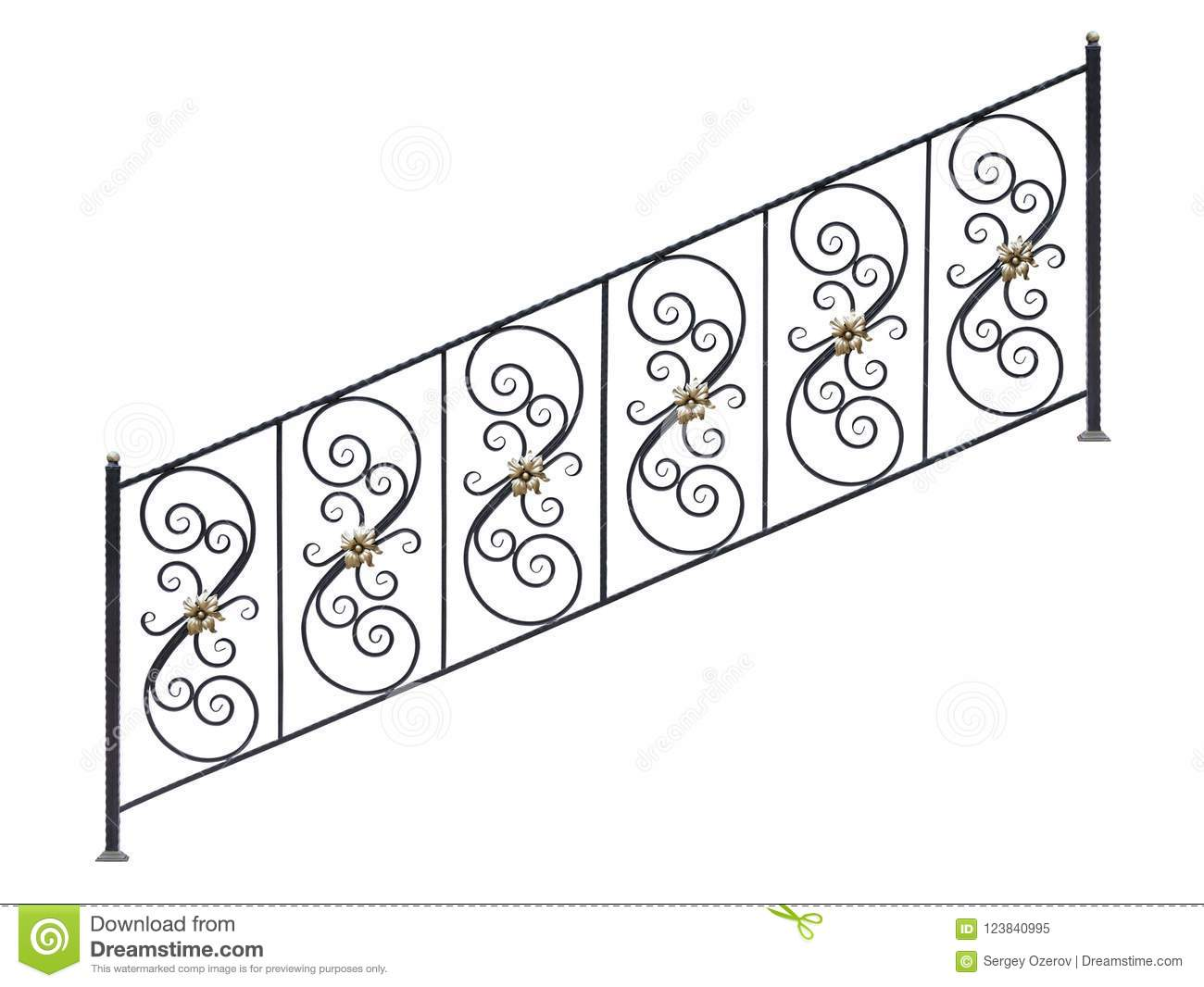 Download Modern Steel Railing Staircase Steps. Stock Image   Image Of  Barrier, Border: