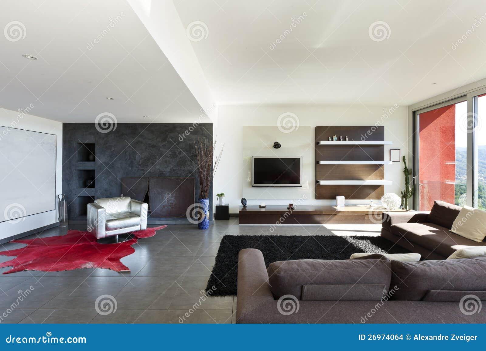Modern stil, vardagsrum arkivbilder   bild: 26974064