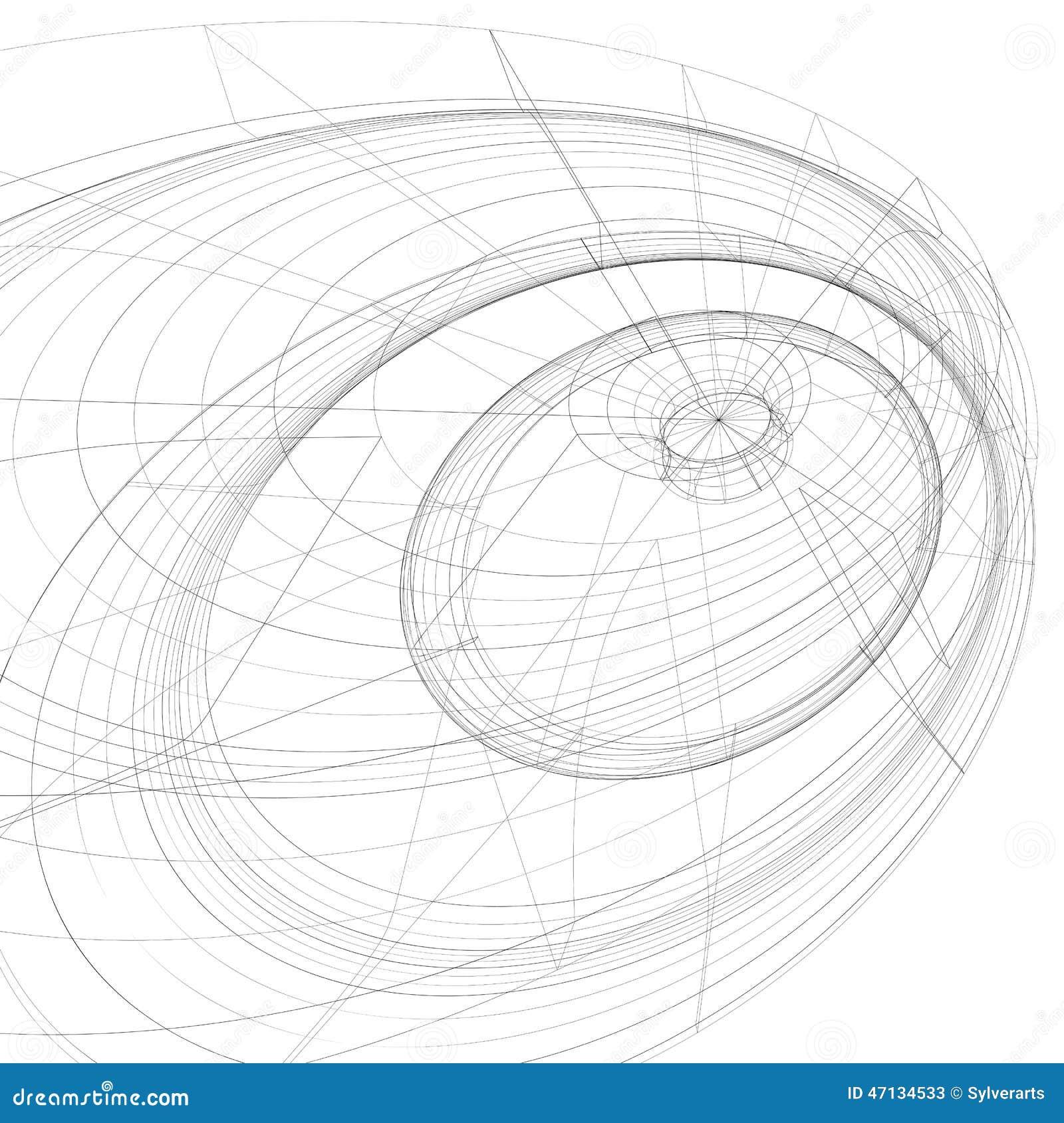 Modern stiliserad abstrakt bakgrund för ingrepp 3D, monokrom geometri