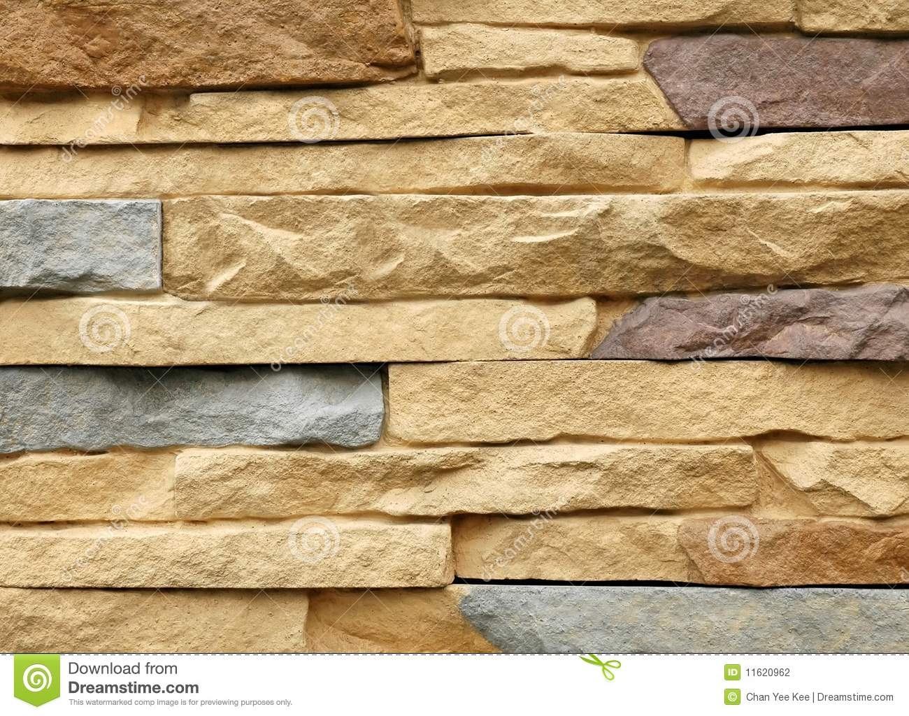 Modern Stone Wall Background Stock Photography Image