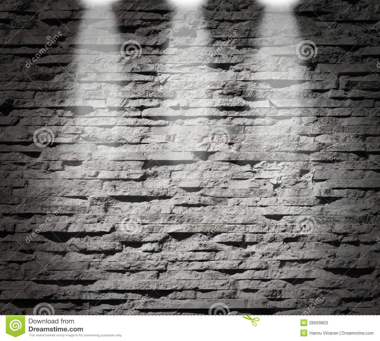 Modern Stone Wall Decoration Lights Stock Photos Image