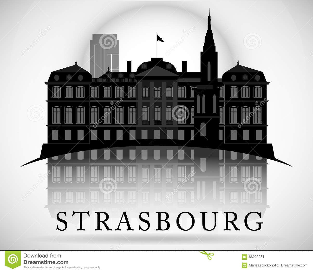 modern strasbourg city skyline design france stock vector image 66203851. Black Bedroom Furniture Sets. Home Design Ideas