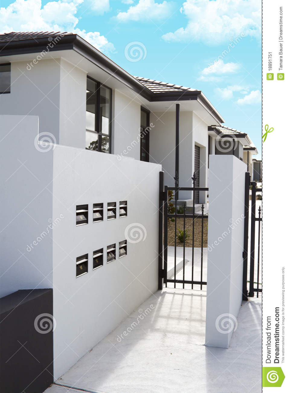 Modern Stucco Homes Stock Image Image 18891751