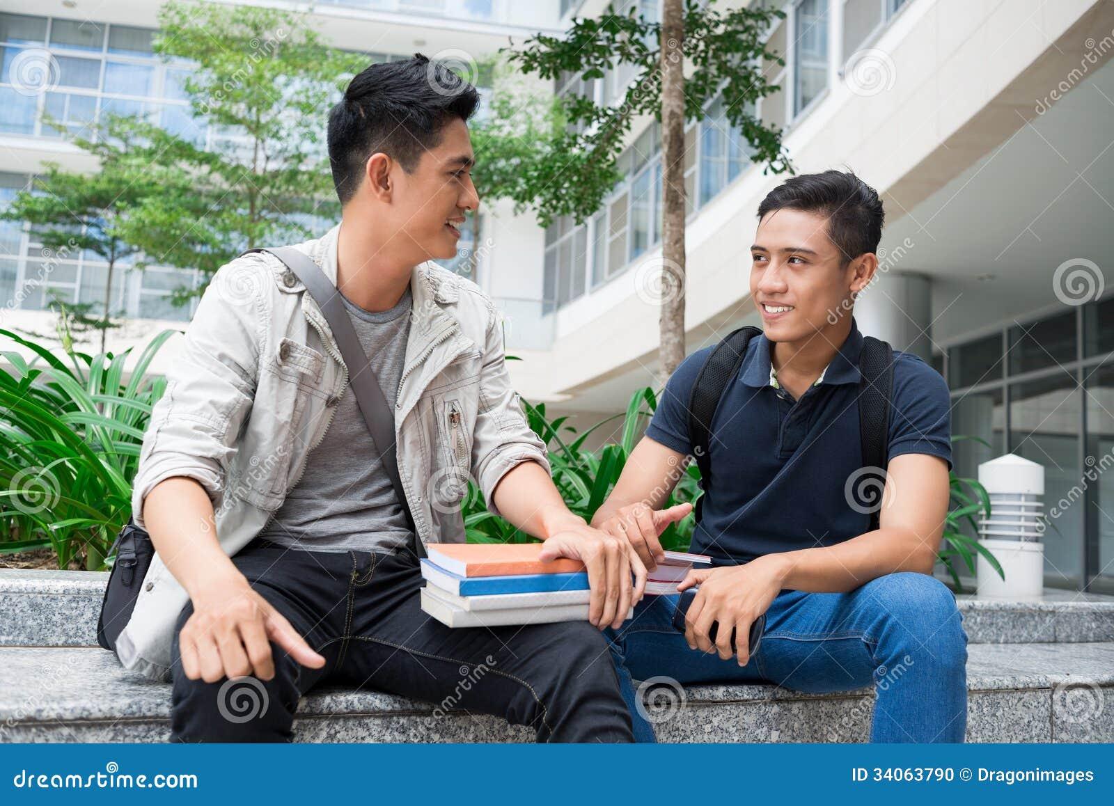 Modern Classroom Students : Modern students stock photo image
