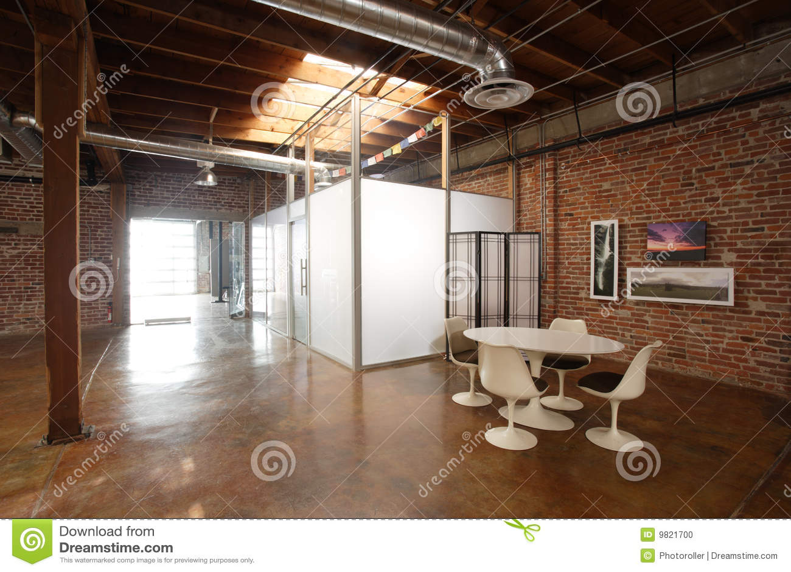 Modern Studio Loft Stock Photo Image 9821700