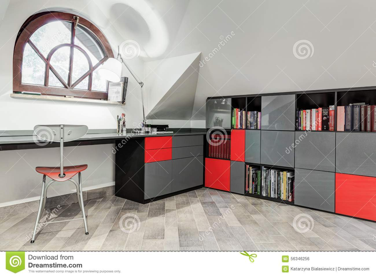 Modern Study Room For Teenager Stock Photo Image Of