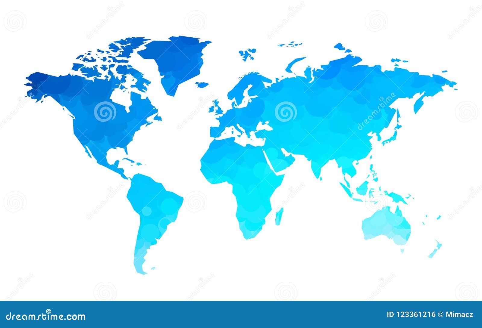 Blue circles world map background
