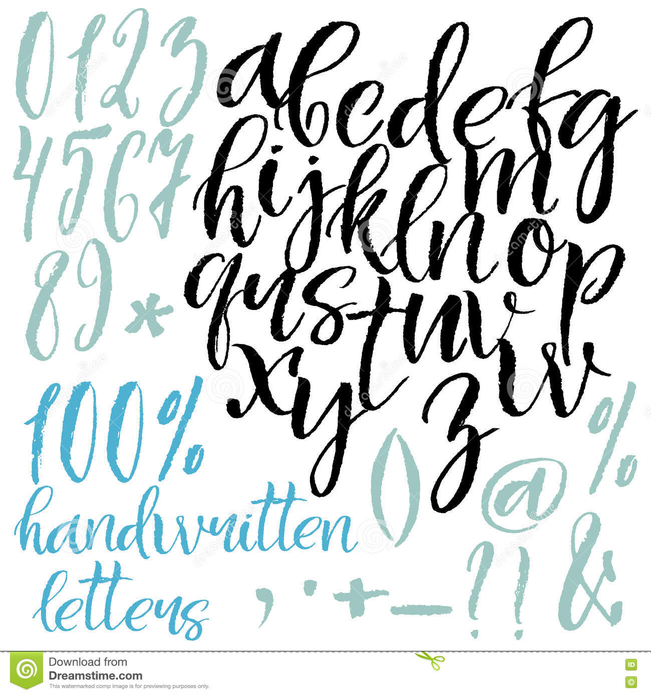 Modern Style Calligraphic Letters Stock Vector