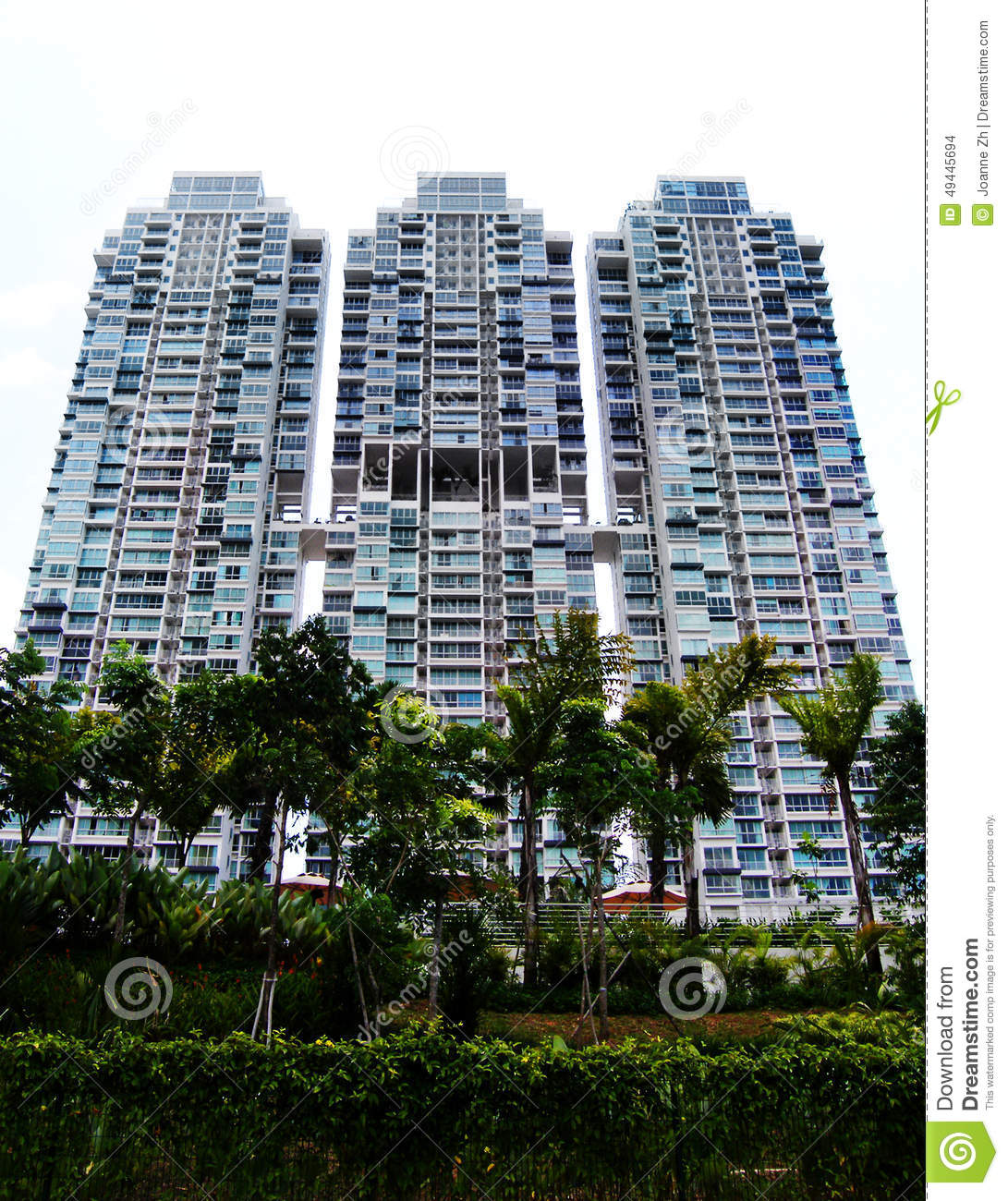 Modern style condo apartments stock photo image of blue for Ultra modern apartment design