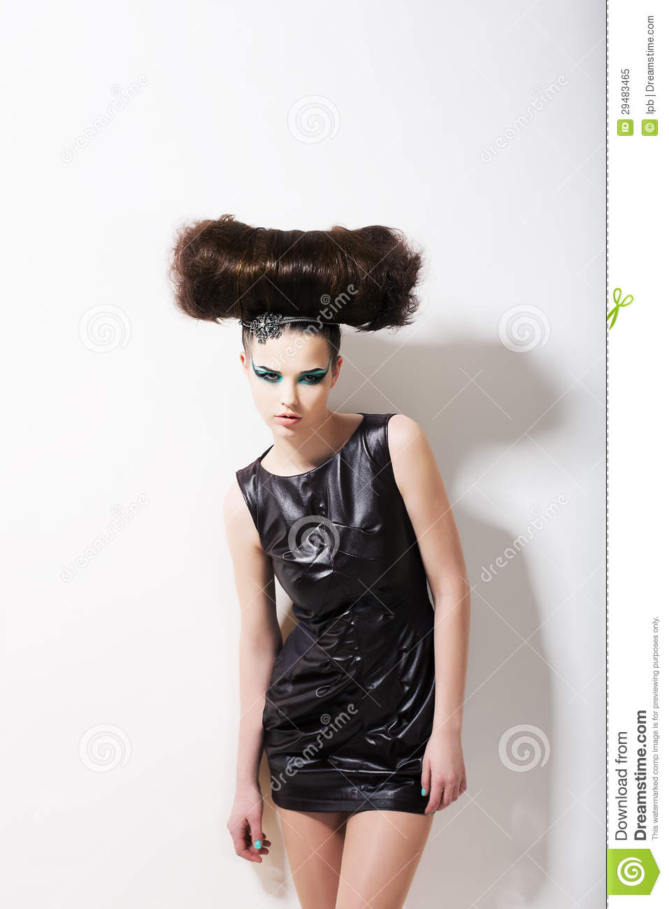 modern style funny glamorous fashion model with punk coiffure creativity stock image image. Black Bedroom Furniture Sets. Home Design Ideas