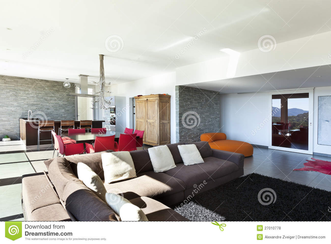 Modern style living room royalty free stock photos for Modern look living room