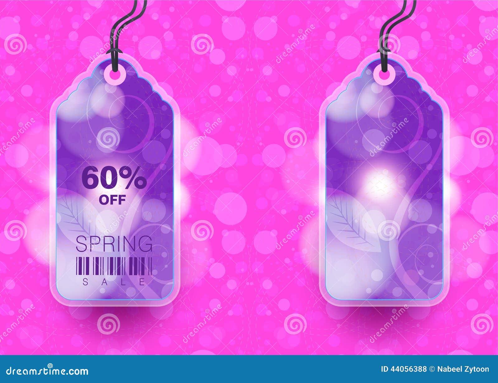 Modern Style Sale Tag Design