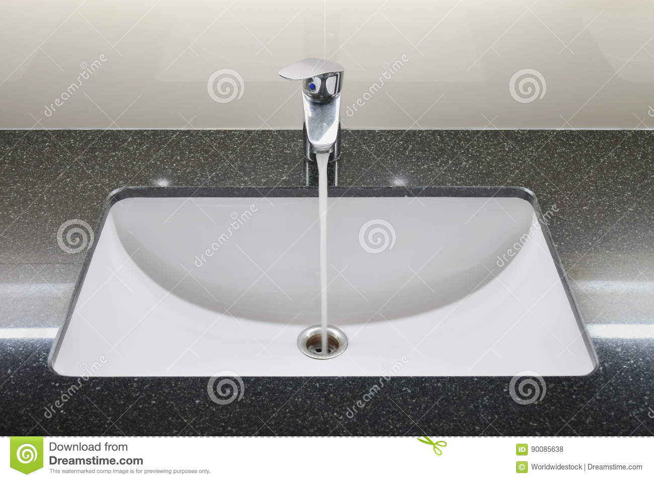 Modern Style Wash Basin With Faucet Stock Photo Image Of Chrome Equipment 90085638