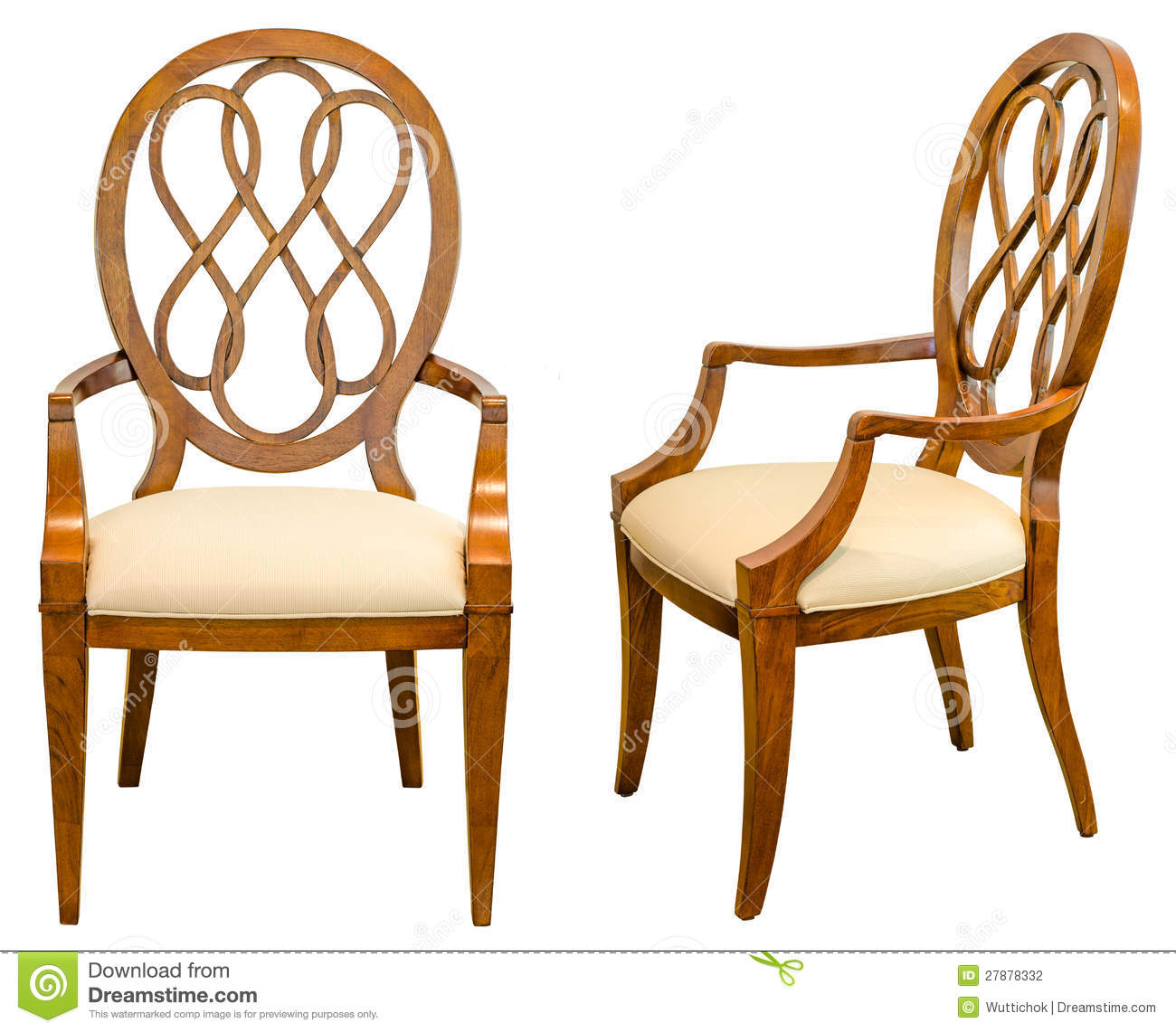 Decorative Modern Style Wooden Chair Kind Of Furniture Isolated On . Full resolution‎  portraiture, nominally Width 1300 Height 1141 pixels, portraiture with #804107.