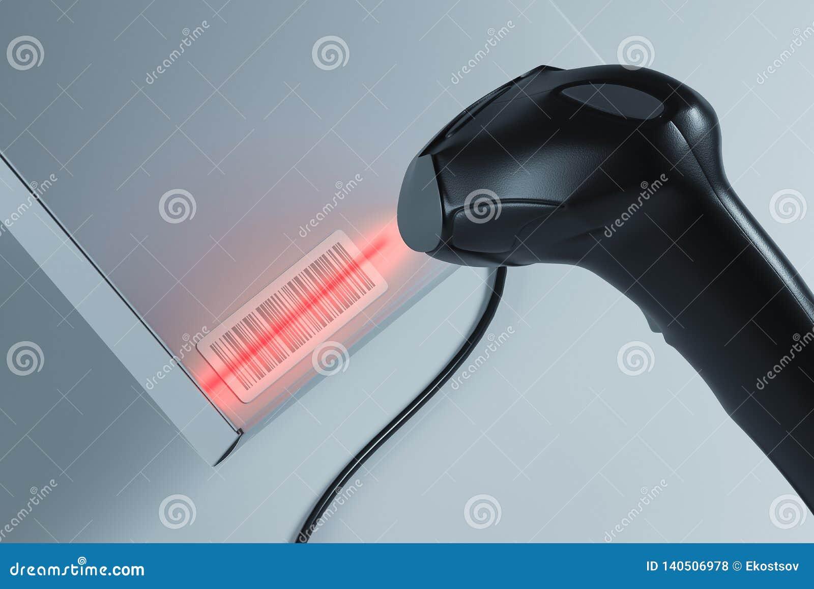 Modern Stylish Barcode Scanner Scanning Bar Code With Laser