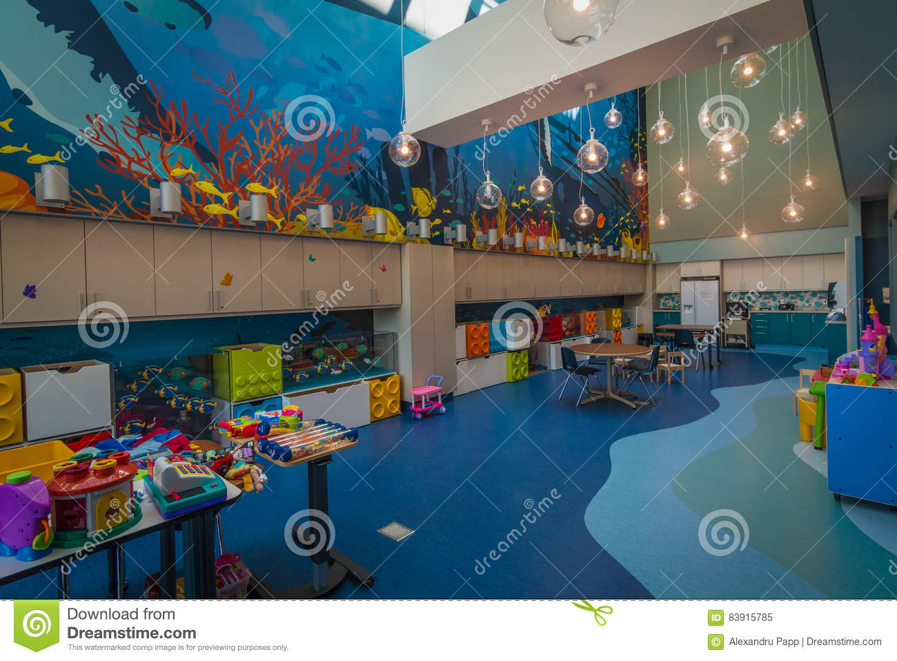 Modern And Stylish Playroom At Shriners Children Hospital In Montreal Qc Editorial Image Image Of Material Mcgill 83915785