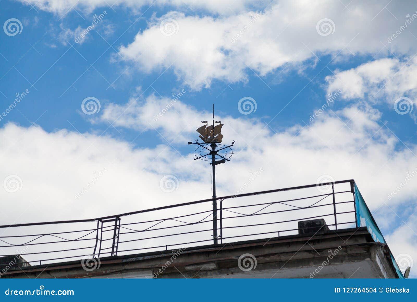 Modern Stylish Wind Vane With High Spike Stock Photo - Image of ...