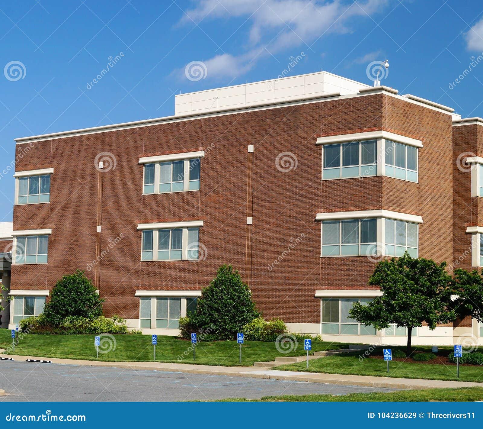 Modern suburban American office building