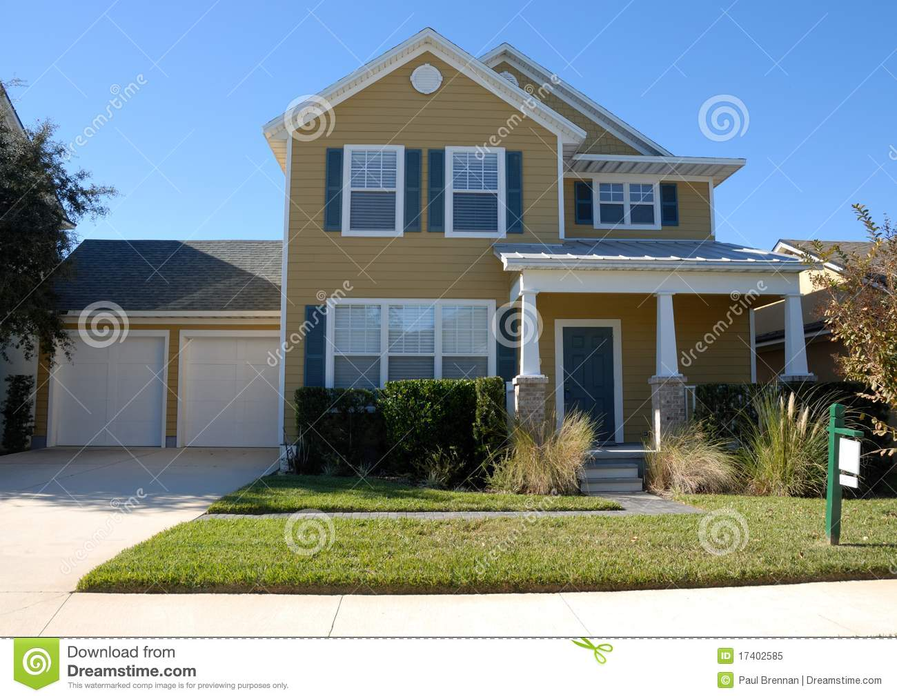 Modern suburban home for sale stock image image 17402585 for Modern photography for sale