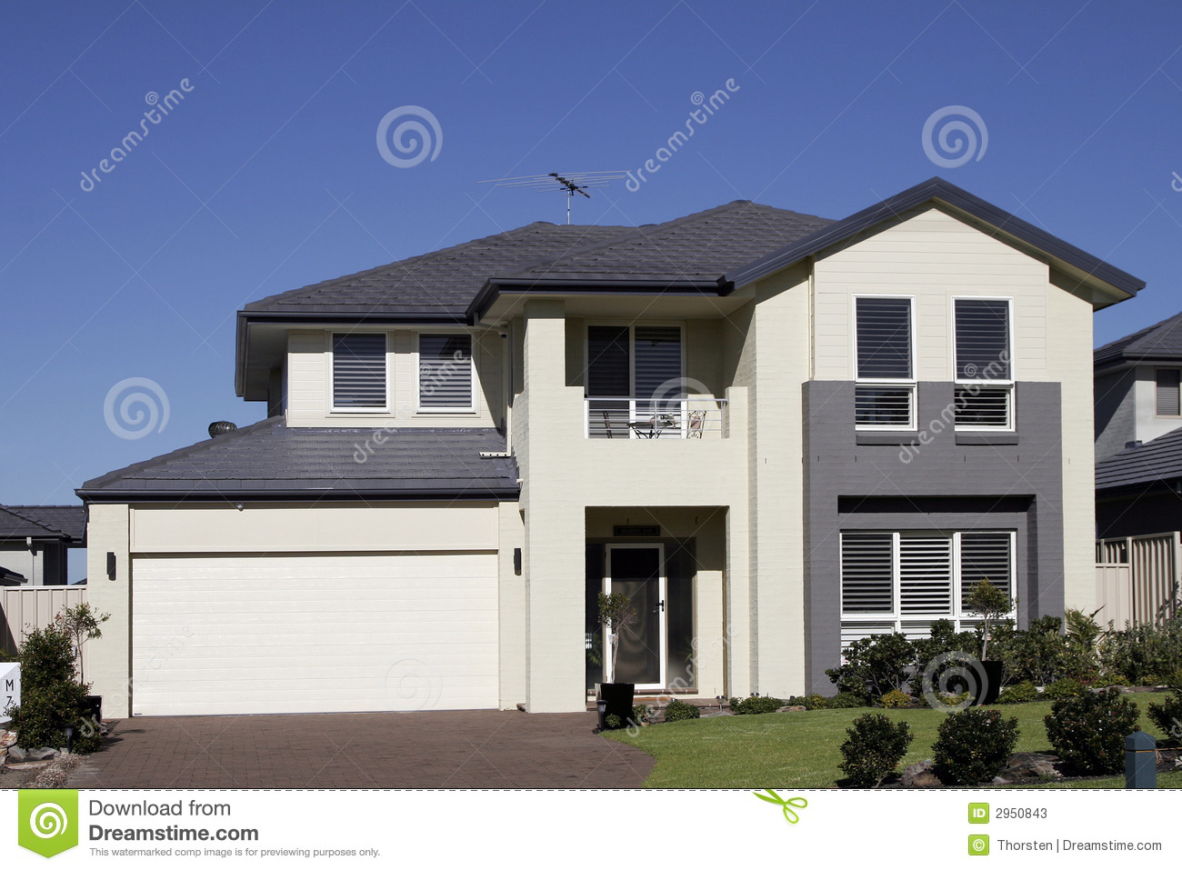Modern Suburban House Stock Photos Image 2950843