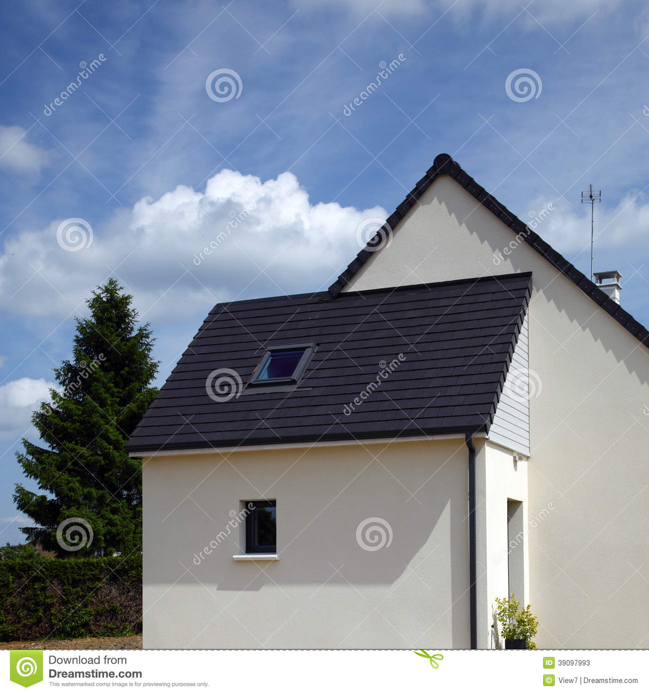 Modern suburban house stock image image of wall facade for Exterior background