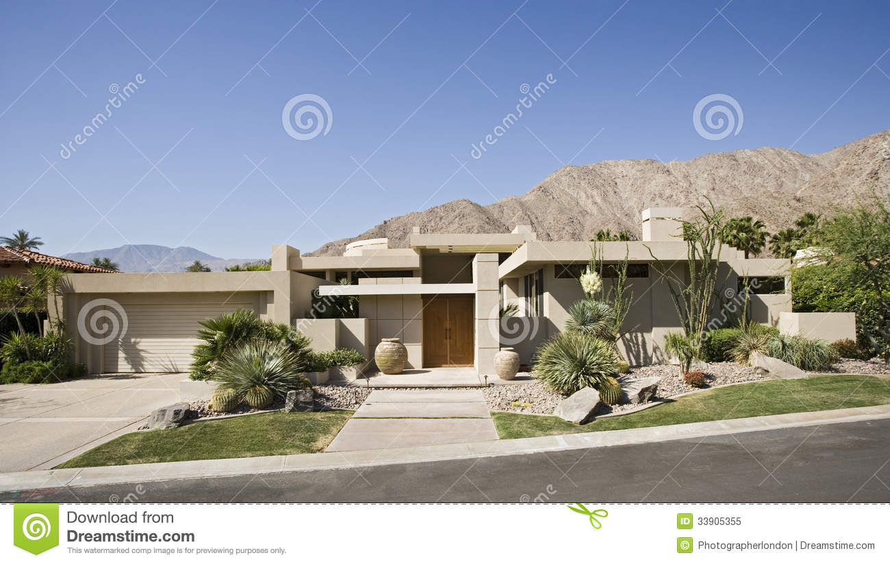 Modern luxury homes exterior - Modern Suburban House Exterior Royalty Free Stock Photo