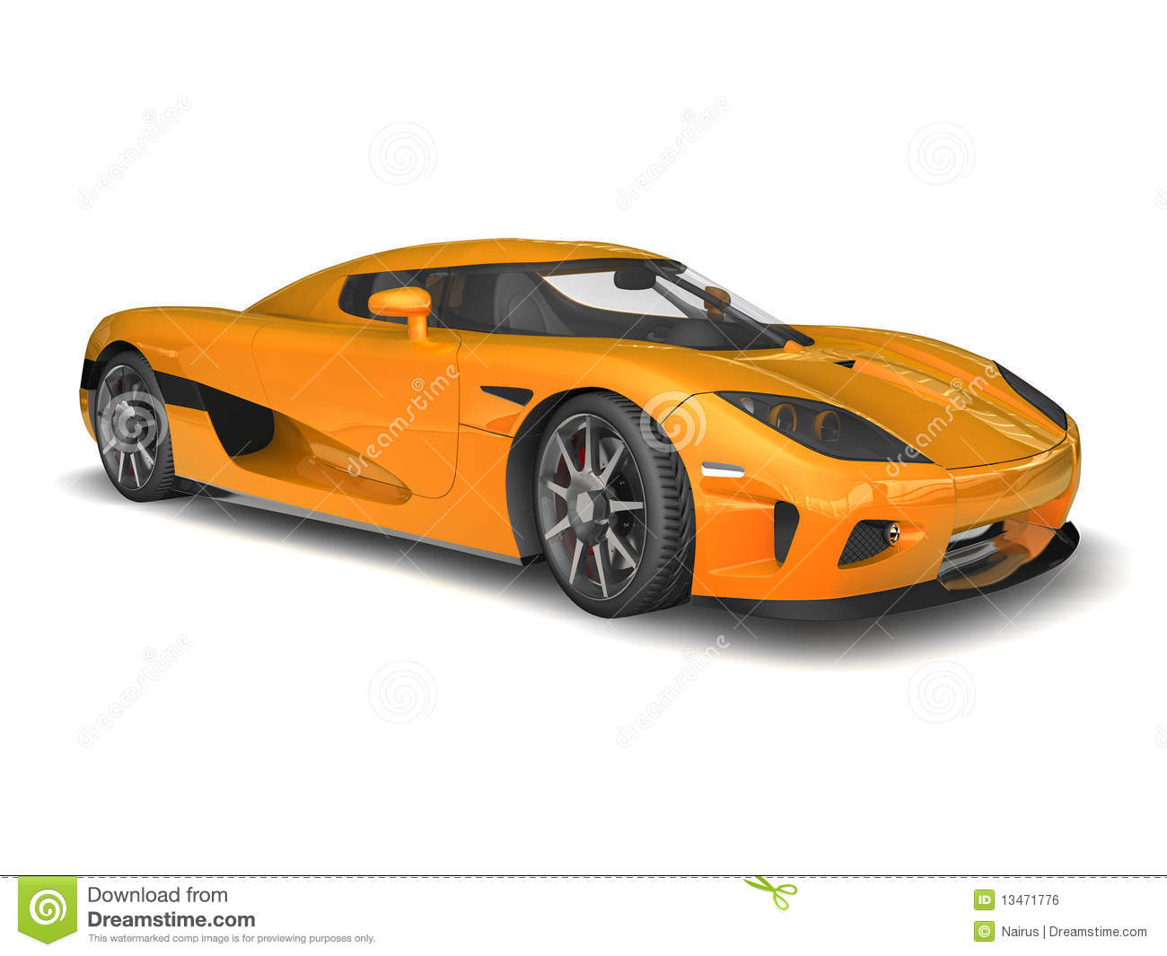 Delightful 3D Render Of Koenigsegg CCX On White Background