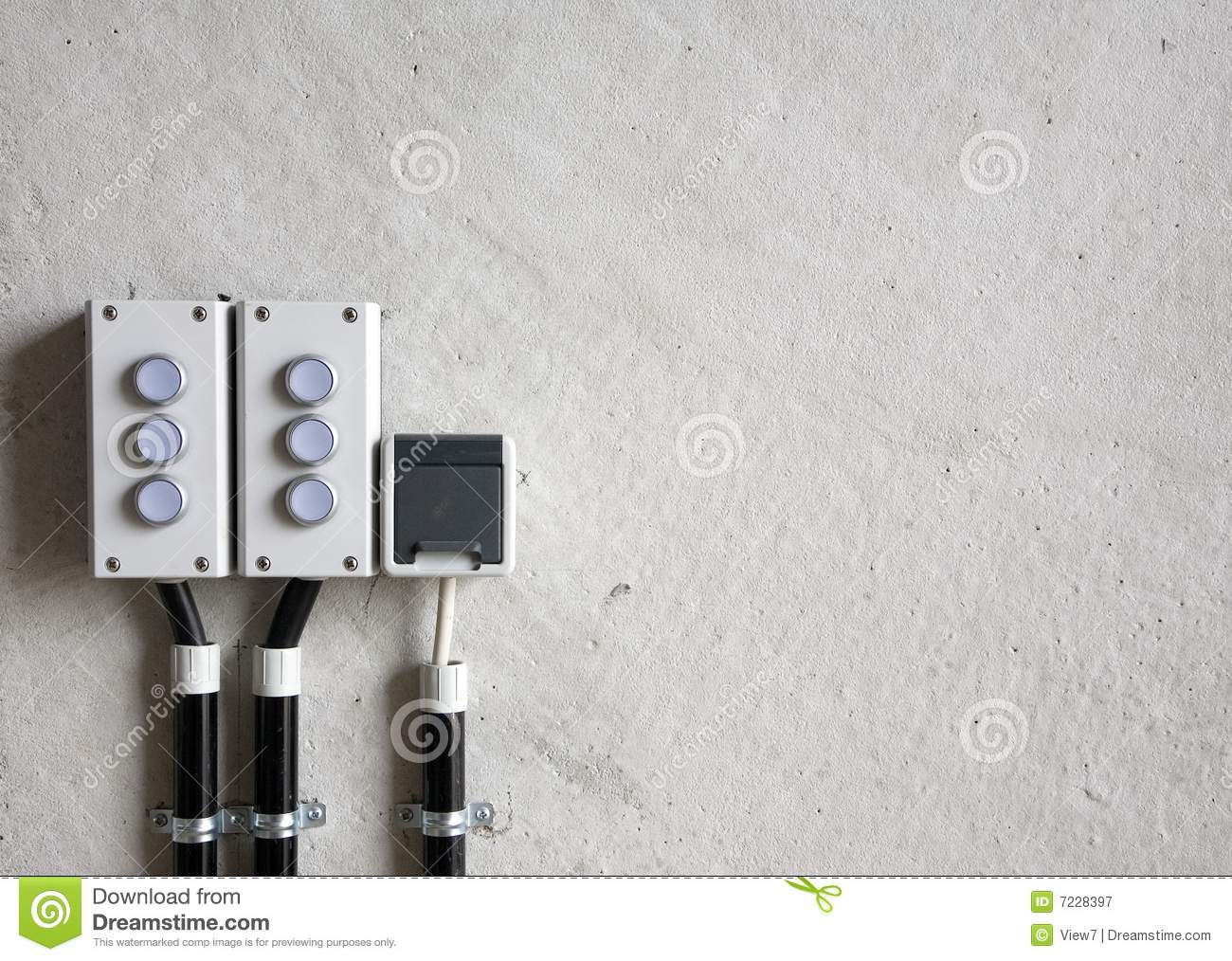 set of modern electrical switches stock photography image 18152412