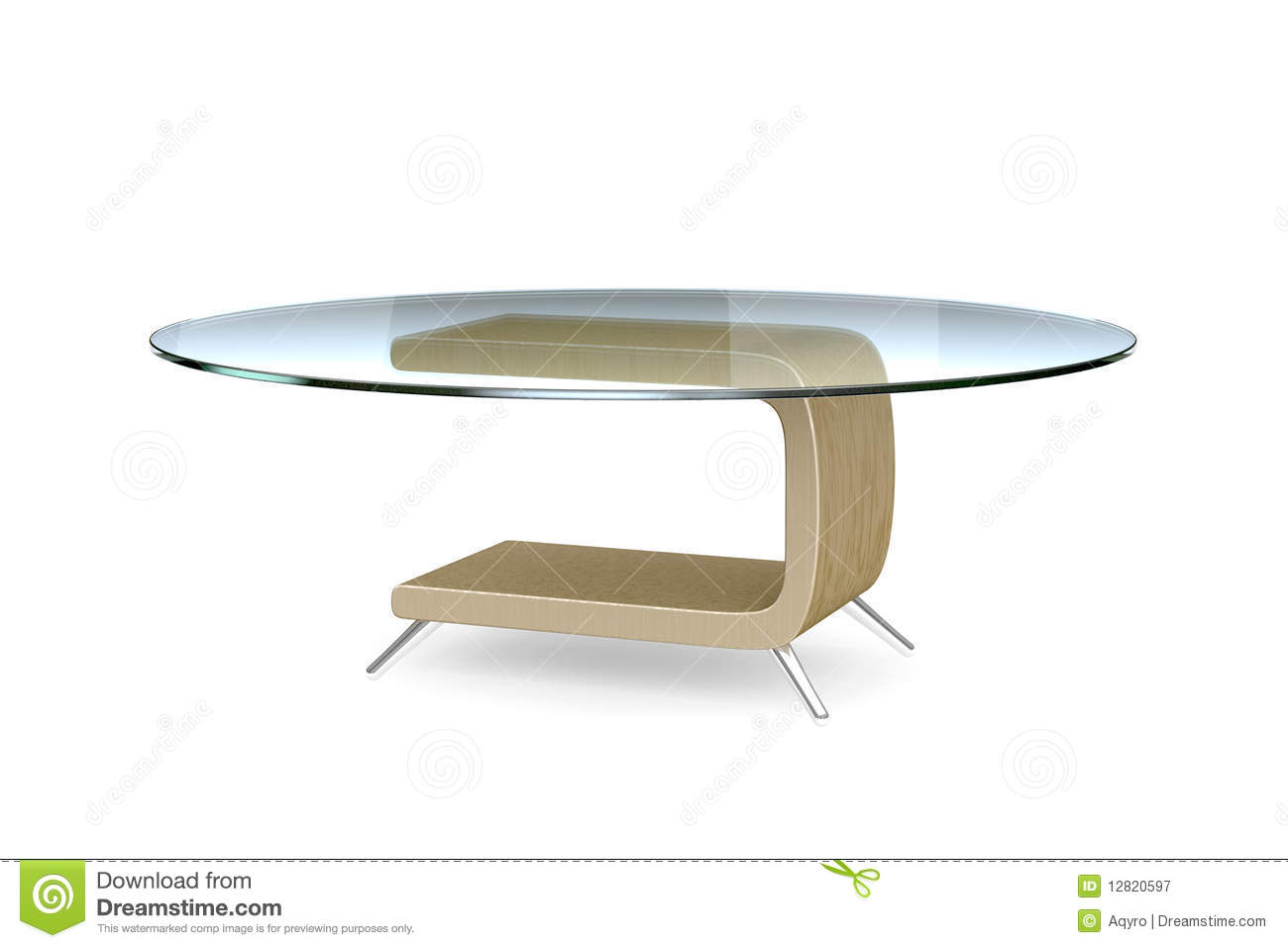 Modern Table 3d Model Royalty Free Stock Photography Image 12820597