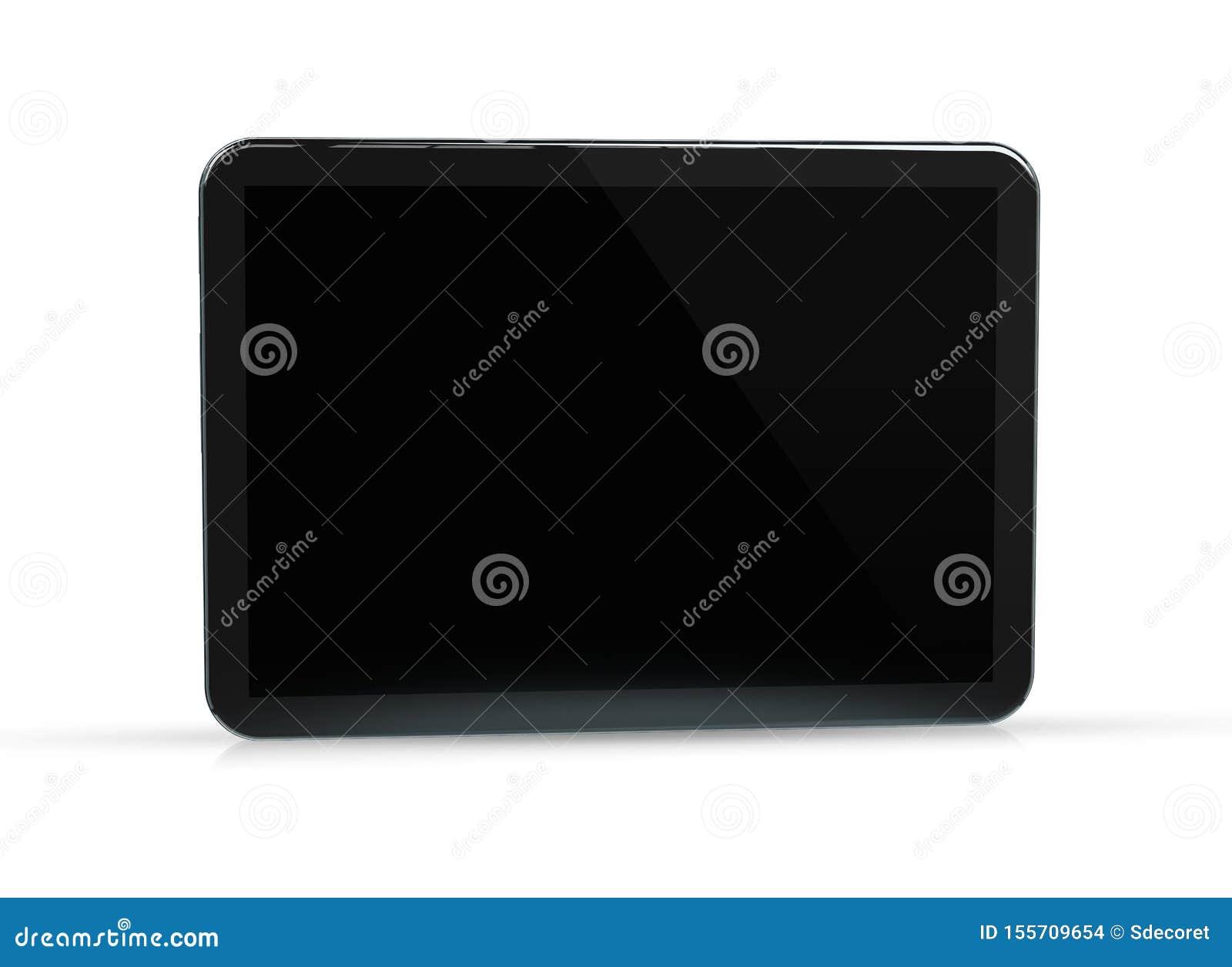 Modern tablet mockup isolated on white 3d rendering