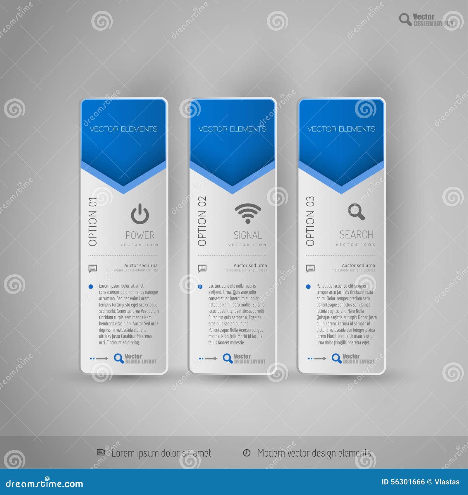 Modern Tabs As Design Elements Business Symbols Stock